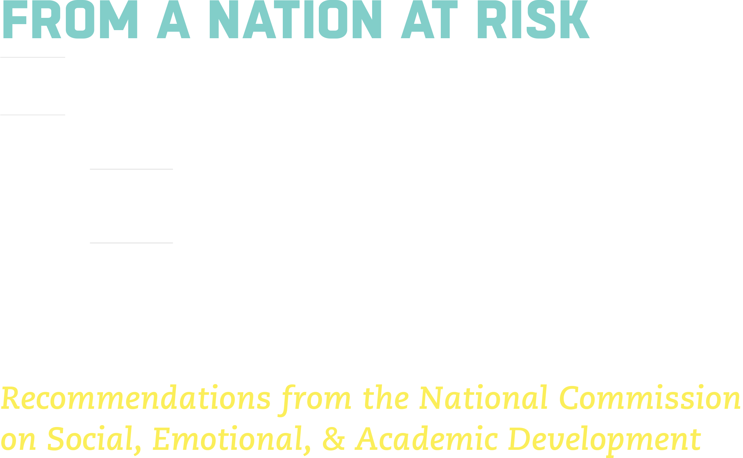 Experts Recommend Shift In National >> Nation At Hope A Nation At Hope